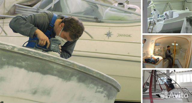 покраска лодки стеклопластиковой