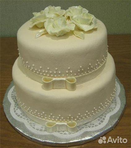Торты на свадьбу двухъярусные