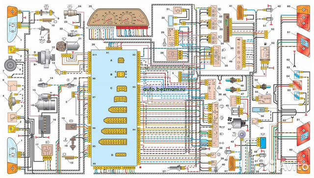 Электрическая схема ВАЗ-21214