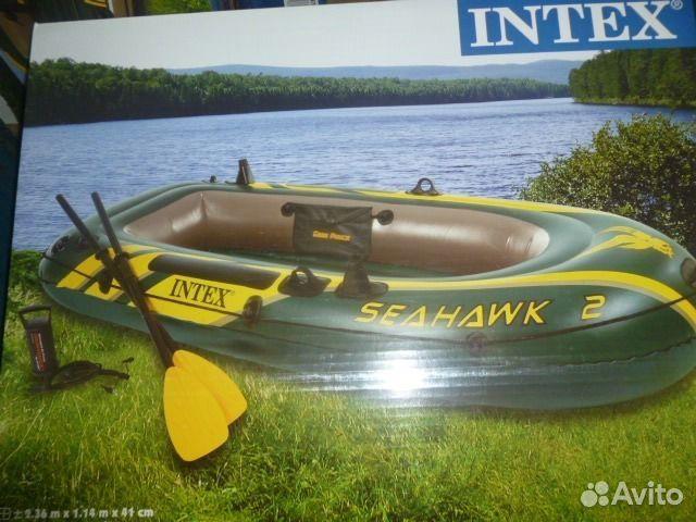 двухместная лодка с мотором на авито