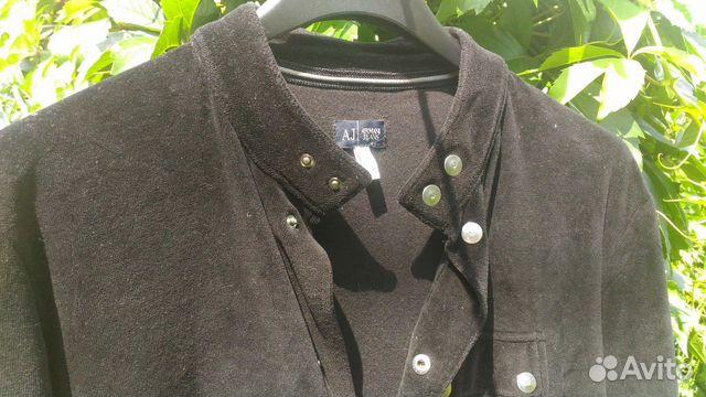 c5c285587da5 Armani Jeans черная бархатная рубашка размер М купить в Ульяновской ...