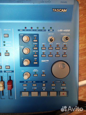 Tascam US-428 звуковая карта, миди-контроллер 89139767854 купить 6