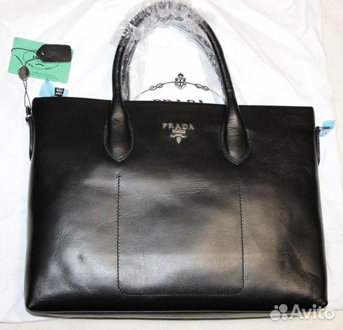 1be91bd13109 Мужская кожаная сумка портфель new Pradа black купить в Москве на ...