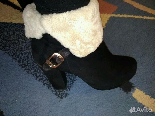 Ботиночки женские, замшевые,зимние.Очень теплые  89656415406 купить 1