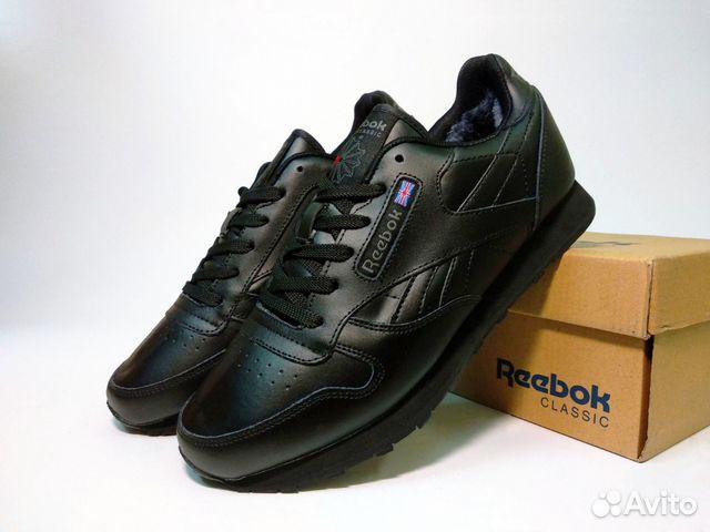 03791b44fee3 Зимние Кроссовки Reebok черные кожаные с мехом купить в Москве на ...