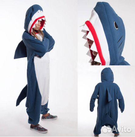 Кигуруми для взрослых акула. Размер L e657a3e02f7d3