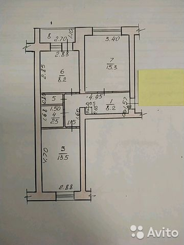 2-к квартира, 51 м², 4/5 эт.