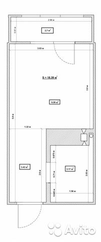 Продается квартира-cтудия за 1 310 000 рублей. улица Новосёлов, 115.