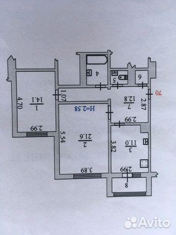 Продается двухкомнатная квартира за 6 350 000 рублей. г Салехард, ул Имени Василия Подшибякина, д 46А.