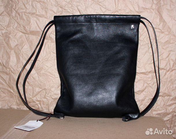 d00948b118cb Кожаный рюкзак мешок итальянской марки оригинал | Festima.Ru ...