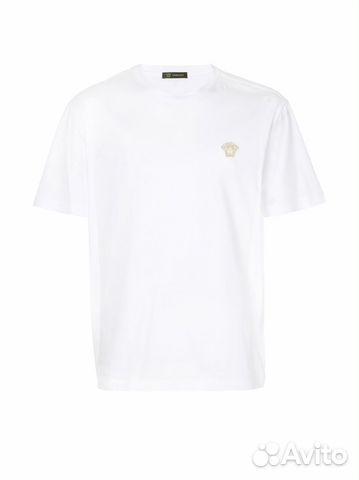 b2a59cf1c3f11 Versace Medusa футболка с вышивкой Медузы Белая купить в Москве на ...