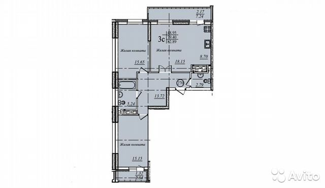 3-к квартира, 83.9 м², 5/19 эт. купить 8