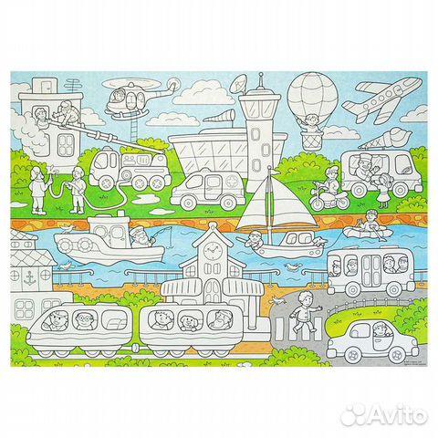 Плакат-раскраска для малышей 50 х 70 см 89127498911 купить 3