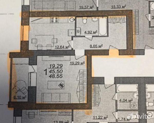 1-к квартира, 48.6 м², 4/14 эт. 89532779925 купить 4