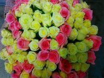 Цветы, 101 роза, 50см (Микс). Купить с доставкой