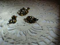 Серебряный набор с янтарем