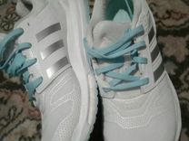 Кроссовки adidas белые-бирюза 37