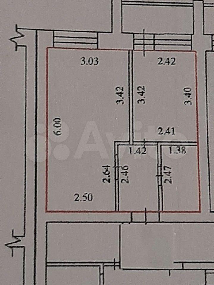 1-к квартира, 33 м², 2/3 эт.  89062952503 купить 10