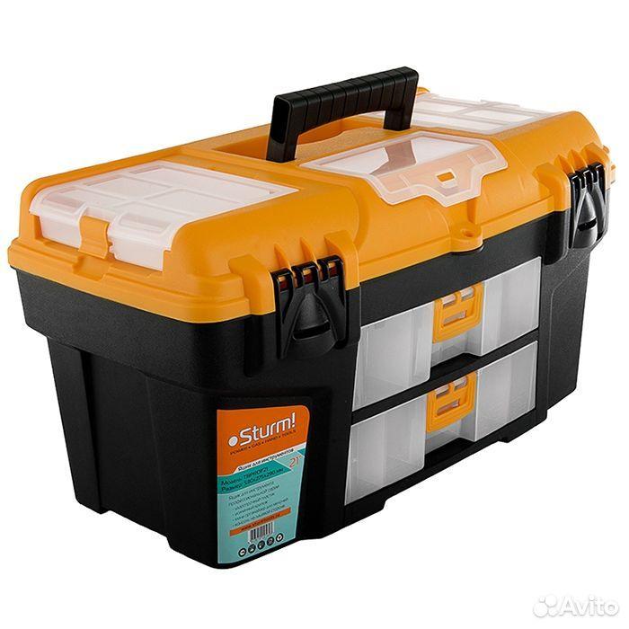 89124002166  Ящик для инструментов (пластик) sturm tbprof21