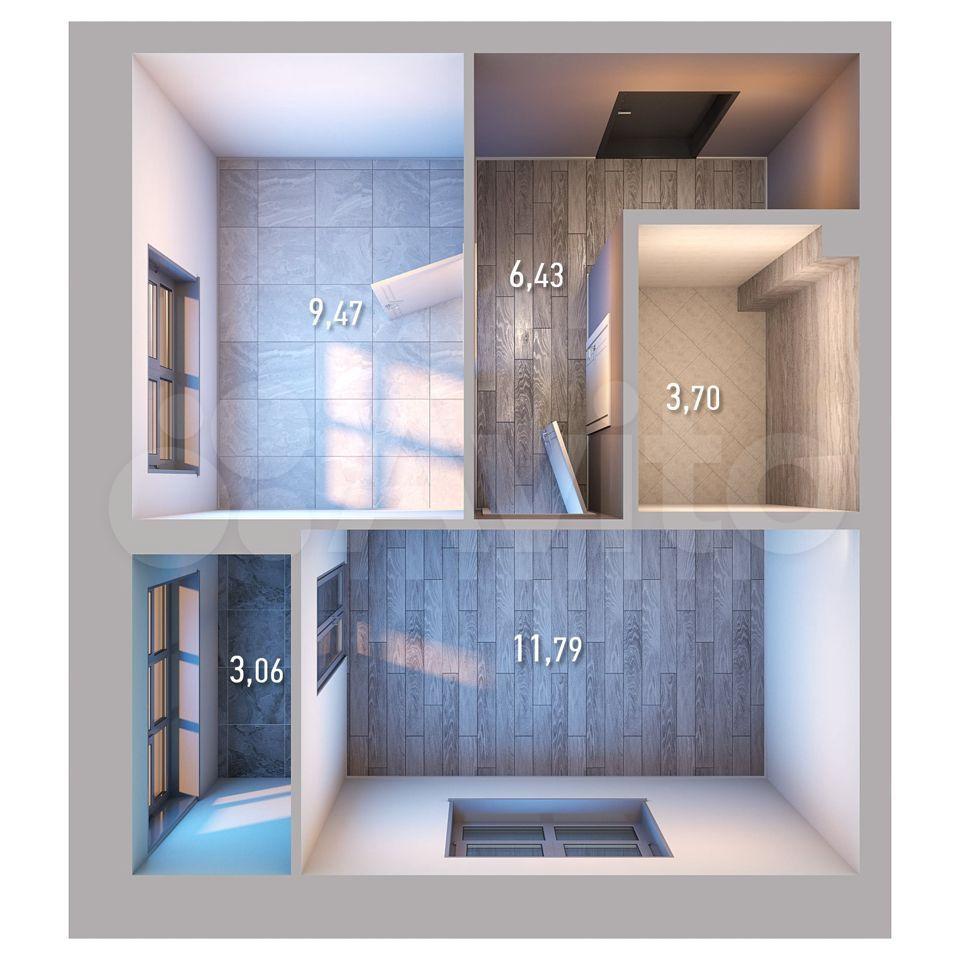 1-к квартира, 34.5 м², 11/19 эт.  89376291823 купить 2