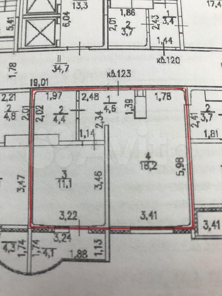 1-к квартира, 41.5 м², 5/17 эт.
