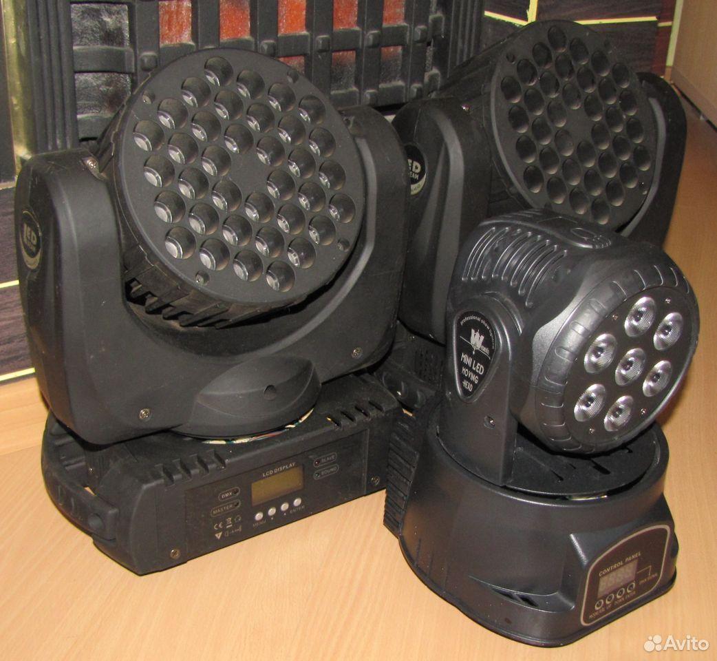 Проф светомузыка 3 вращающиеся головы LED микрофон  89128899109 купить 8