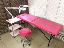 Кушетка складная (массажный стол), Ширмы, Лампа